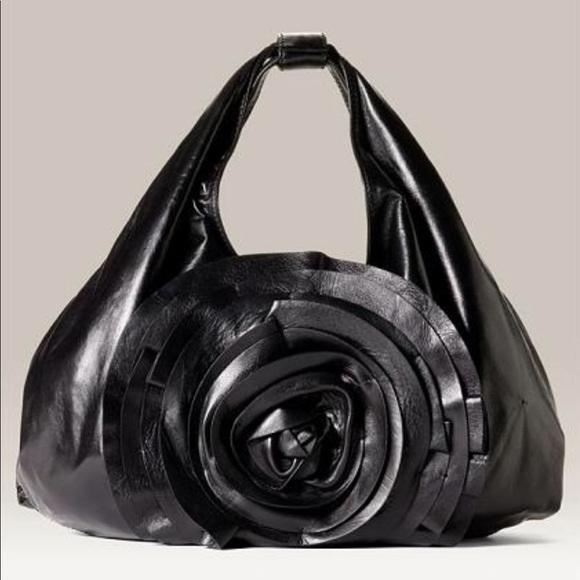 55e34a02f94 Valentino Garavani Bags | Petale Rosette Hobo Black | Poshmark